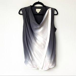 DKNY Gray Ombré Silk Layered Transitional Vest